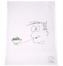 M_CARL BARRON – PEAS TEA TOWEL