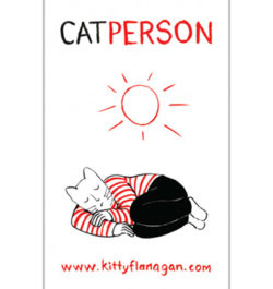 M_KITTY FLANAGAN – CAT PERSON TEATOWEL